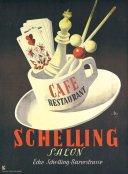 Schelling Salon Placard 1952