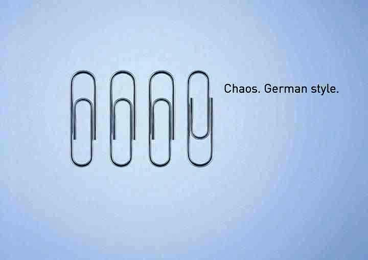 The Germans invented the paperclip, or at least were smart enough to patent it. 'Wer schreibt der bleibt'. He (who) writes remains.
