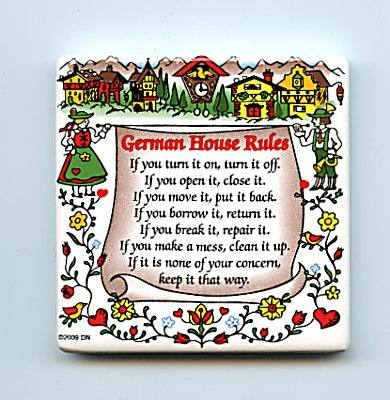 German House Rules Photo: Germandeli.com
