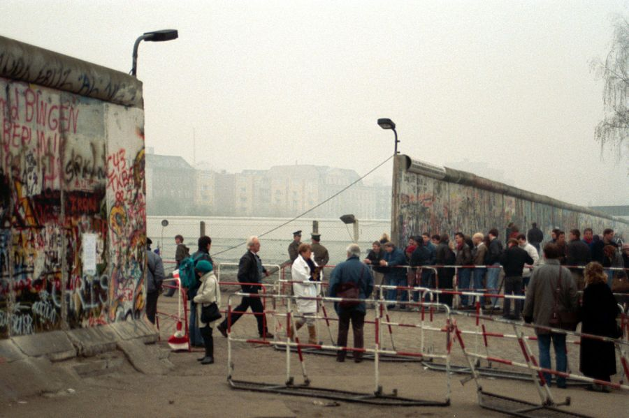 A steady stream of East Germans began crossing into West Germany shortly after the Wall fell. Some were tourists, others stayed in west Germany, never to return.