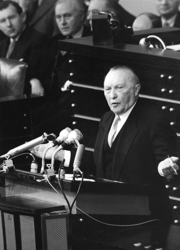Konrad Adenauer, exactly the right man at the right time for Germany.