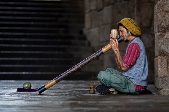 In ten years in Munich I've seen one person playing the didgeridoo. He's local. I know him.