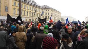 Rally for solidarity with the French in Munich. Photo: MunichFOTO, Jeff Ely