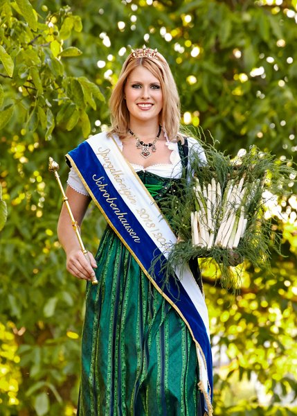 The Asparagus Queen from Schrobenhausen, Bavaria's most famous locale for growing asparagus.